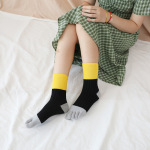 Ms Toe Socks Absorbent Cotton In Warm Tube Socks Dongkuan Mixed Colors Striped Toe Socks - Red One Size