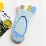 Spring And Summer Fresh Color Invisible Toe Socks Toe Socks Cotton Ms. Ship Out With Silicone Anti-shallow Mouth Socks Points Toe Socks - Color One Size