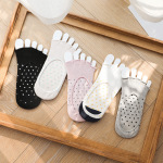 Toe Socks Female Cotton Summer Thin Section Breathable Absorbent Cotton Toe Invisible Toe Socks - Color One Size