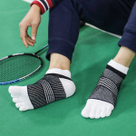 Toe Socks Thin Section M Cotton Summer Sports Short Tubular Toe Socks Odor Absorbent, Breathable Mesh - Green One Size