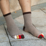 Men's Toe Socks Tube Socks Dongkuan Color Refers To The Solid Absorbent Warm M Socks Toe Socks - White One Size