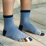 Men's Toe Socks Tube Socks Dongkuan Color Refers To The Solid Absorbent Warm M Socks Toe Socks - Navy One Size