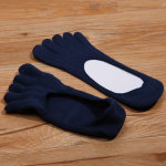 Toe Socks Men's Cotton Summer Thin Section Stealth Boat Socks Solid Color Socks, Absorbent, Breathable Toe Socks - White One Size
