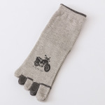 M Toe Socks In Tube Dongkuan Thick Cotton Cartoon Motorcycle Absorbent Warm Toe Socks Socks - White One Size