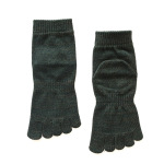Men's Casual Winter Socks Socks Toe Socks Thick Line And Cotton Socks Toe Socks M - Green One Size