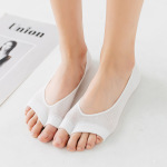 Ms. Summer Thin Section Cotton Socks Mesh Fish Mouth Open Toe Socks Non-slip Socks Invisible Finger - Color One Size