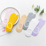 Spring Models Cotton Toe Tabi Socks Japanese Candy Color Invisible Socks Mesh Breathable Socks - Yellow One Size