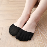 Toe Socks Female Summer Thin Section Of Bamboo Fiber Mat Non-slip Palm Open-toed Socks Invisible Half Half Half-toe Socks - Dispensing Full Finger Black One Size