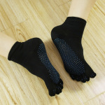 Socks Non Slip Yoga Socks Toe Socks Black Socks Specialty Dispensing Toe Socks Yoga - Purple Bottom One Size