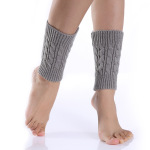 Eight 8-word Short Paragraph Ma Pattern Socks Wool Knitted Thermal Leggings Boots 9 Color Sets - Navy One Size