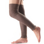 Japanese Soft Cashmere Long Section The Autumn Winter Boots Female Long-barreled Knee Socks Yoga Leggings Sets - Gray One Size