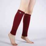Japan South Korea Autumn Winter Warm Cashmere Knit Wool Socks Female Bee Embroidery Boots Leg Sets - Red One Size