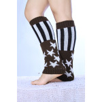 Wool Socks Male Stars Stripes American Flag Knitted Thermal Boots Socks - 1 One Size