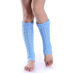 Hollow Imitation Lace Knitted Wool Undulations Leg Cuffs Socks Warm Winter Socks Female Boots - Dark Gray One Size