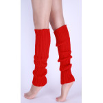 Warm Autumn Winter Knit Socks Yoga Leggings Classic Pure Color Stripes Foot Boots - Rose One Size