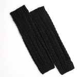 Women Knit Leg Warmers Autumn Winter Leg Warmers Boots Socks - Dark Gray