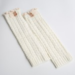 Selling Knitting Wool Gloves For Warm Winter Boots Lace The Deduction 8 Characters Socks Twist Button - Zhang Qing