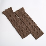 Japan And South Korea Selling Knitted Socks Socks Imitation Lace Long Section Of The Introversion Pick Holes Leggings Socks Supplying - Old Khaki