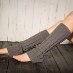 Knitting Wool Korean Version Of The Warm Winter Jacket Socks Leg Socks Word - Grey