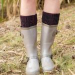Thick Wool Socks Knitted Thermal Mixing Household Word + 8 Pumping Floor Socks - White / Black