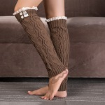 Hot Paternity Knitting Socks Lace Boots Leggings Sets - Blue Lake