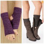 Latin Dance Step Foot Knitting Leg Movement Protective Cover Wool Boots Set Color Mixing Yoga Yoga Warm Socks Stripe - Black