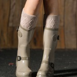 Leg Warmer Autumn Winter Knitted Leg Warmers Boots Wool Socks Leggings - Light Gray