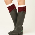 Winter Thick Knee Old Cold Legs Knitted Leg Warmers Booties Boots Warm Wool Cashmere Socks - Light Gray
