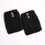 Hand Knit Wool Gloves For Autumn Winter Boots Leggings Short Paragraph Paragraph Thick Socks - Ivory