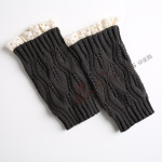Knitted Wool Leggings Warm Autumn Winter Boots Short Paragraph Lace Socks - White