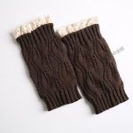 Knitting Wool Gloves For Warm Autumn Winter Boots Short Paragraph Lace Socks Leaves - Zhang Qing