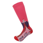 Male Sports Socks Spring Winter Men Casual Sports Knee High Socks Abstract Cartoon Compression Socks - Red SM