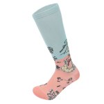Male Sports Socks Spring Winter Men Casual Sports Knee High Socks Abstract Cartoon Compression Socks - Rose XL