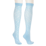 Blue-white Flag Compression Sock Jogging Quick Dry Outdoor Riding Breathable Adult Sports Socks Trainer Socks - Blue Snowflakes S / M