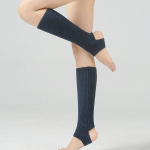 Child Adult Latin Dance Leg Sleeve Knit Sweater Ballet Leg Warmers Sports Protective Yoga Warm Socks Step On The Foot - Dark Green