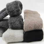 Winter Thick Wool Socks Plus Size Men Warm Cashmere Socks Plus Thick Cashmere Socks Towel Socks Fever Wholesale Fluffy Fuzzy Socks - Yellow Female Models