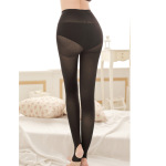 Pressure Tight High Pants Leg Backing Beam Pressurized Foot Pantyhose Thin Shaping Pants Legs Stockings - Black One Size