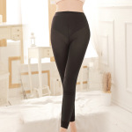 Tuck Pants Waist Corset Girdle Seamless Shaping Pants Legs Hip Pants Tight High Stockings - Black M-L