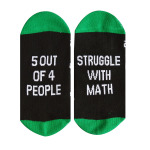 So Little Time So Many Book Socks Casual Letters Cotton Socks Personalized AB Sock Mismatched Words Socks Novelty Socks - 5 Out Of 4 People, Stryggle with Match EU 36-43