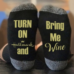 If You Can Read This Letters Sock Christmas AB Sock Mismatched Novelty Socks - Hallmark Movies - Black One Size