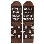 IF YOU CAN READ THIS Printing Socks Novelty Socks - Coffee One Size