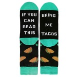 IF YOU CAN READ THIS Winter Socks Socks Novelty Socks - Gray One Size