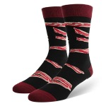 IF YOU CAN READ THIS BACON Printing Letters Socks Novelty Socks - Red + Black One Size