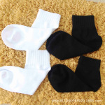 Pure Cotton Winter Socks Adult Ankle Socks - Black One Size