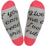 IF YOU CAN READ THIS Crew Socks Hosiery Do Not Disturbe Gaming Gamer Socks Novelty Socks - DFF-0058 Red One Size