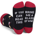 IF YOU CAN READ THIS Cotton Socks Socks Novelty Socks - DFF-0057 Red One Size