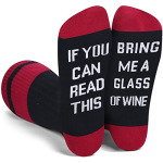 IF YOU CAN READ THIS Crew Sock Hosiery Novelty Socks - DFF-0056 White One Size