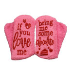Dispensing If You Can Read This Pink Wine Cake Socks Novelty Socks - Red Coffee One Size