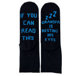IF YOU CAN READ THIS GRANDPA IS RESTING HIS EYES Socks Novelty Socks - Black One Size