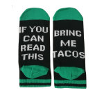 IF YOU CAN READ THIS Cotton Socks Invisible Men Women Casual Letter Sports Socks Novelty Socks - Zihei DONUT One Size